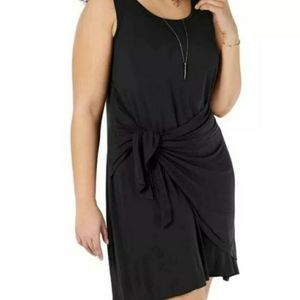 Style & Co 1X Sleeveless Casual Faux Wrap Dress